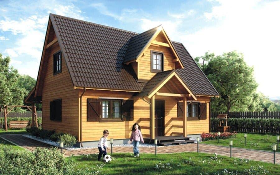 Castor - Domy jednorodzinne opowierzchni zabudowy do90 m2 - 16