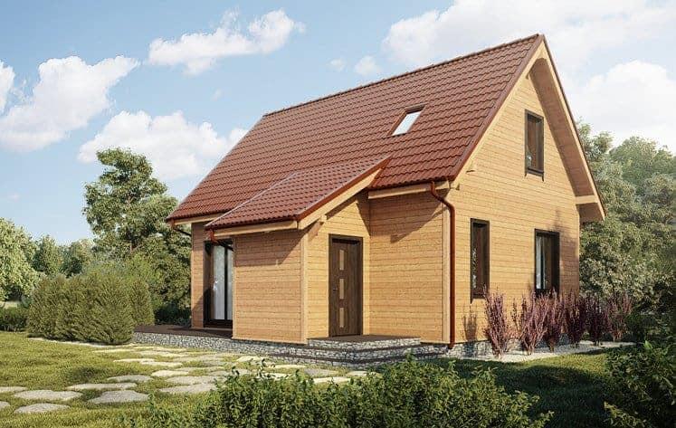 Castor - Domy jednorodzinne opowierzchni zabudowy do90 m2 - 7