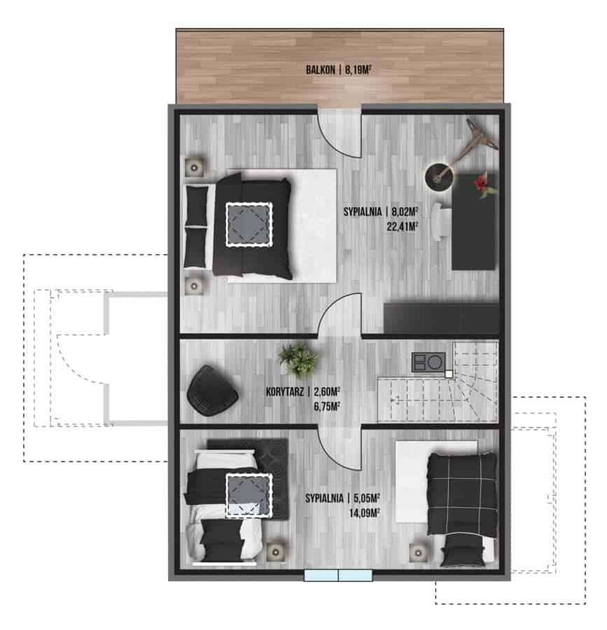 Castor - Domy jednorodzinne opowierzchni zabudowy do90 m2 - 6