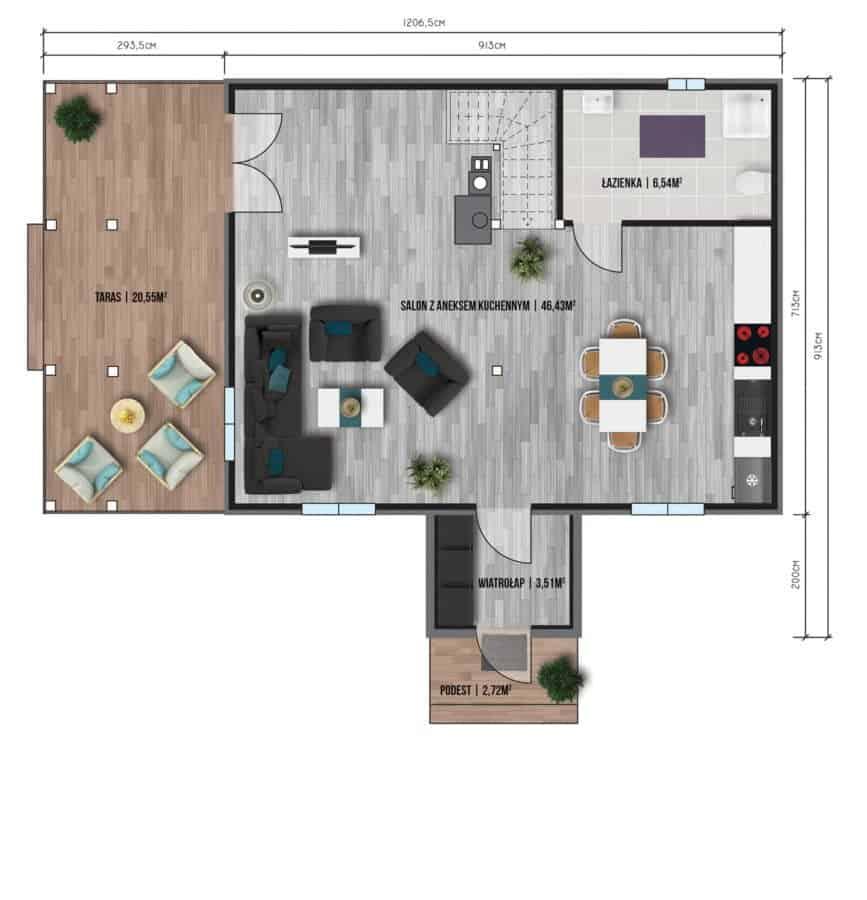 Castor - Domy jednorodzinne opowierzchni zabudowy do90 m2 - 15