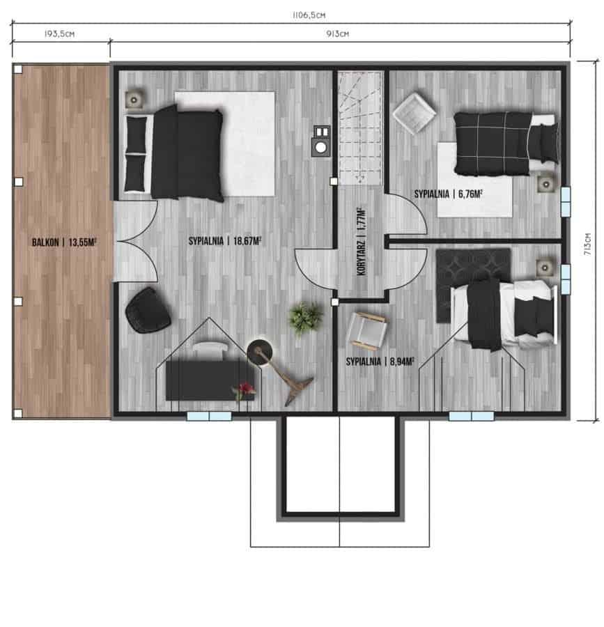 Castor - Domy jednorodzinne opowierzchni zabudowy do90 m2 - 14