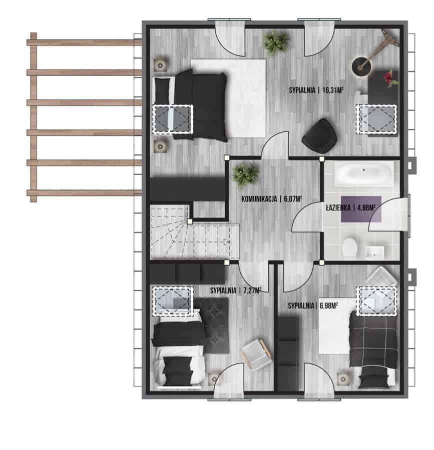 Castor - Domy jednorodzinne opowierzchni zabudowy do90 m2 - 11