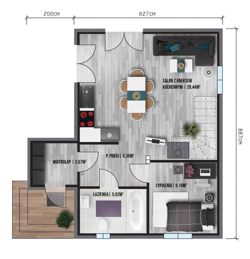 Castor - Domy jednorodzinne opowierzchni zabudowy do90 m2 - 8