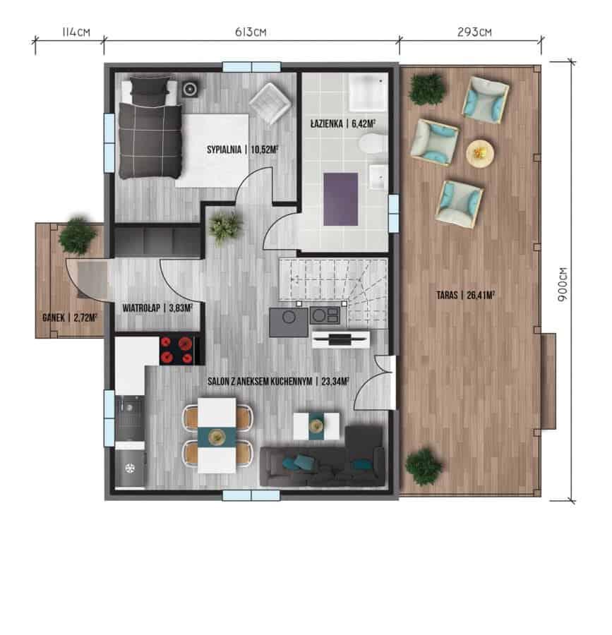 Castor - Domy jednorodzinne opowierzchni zabudowy do90 m2 - 17