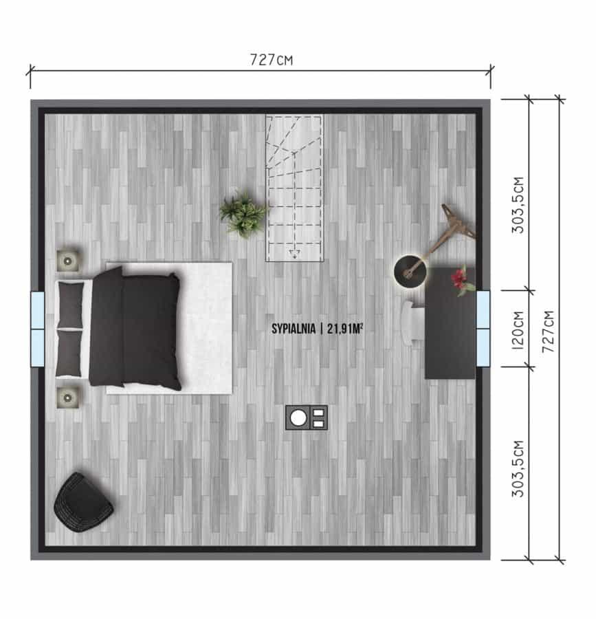 Castor - Domy jednorodzinne opowierzchni zabudowy do90 m2 - 2