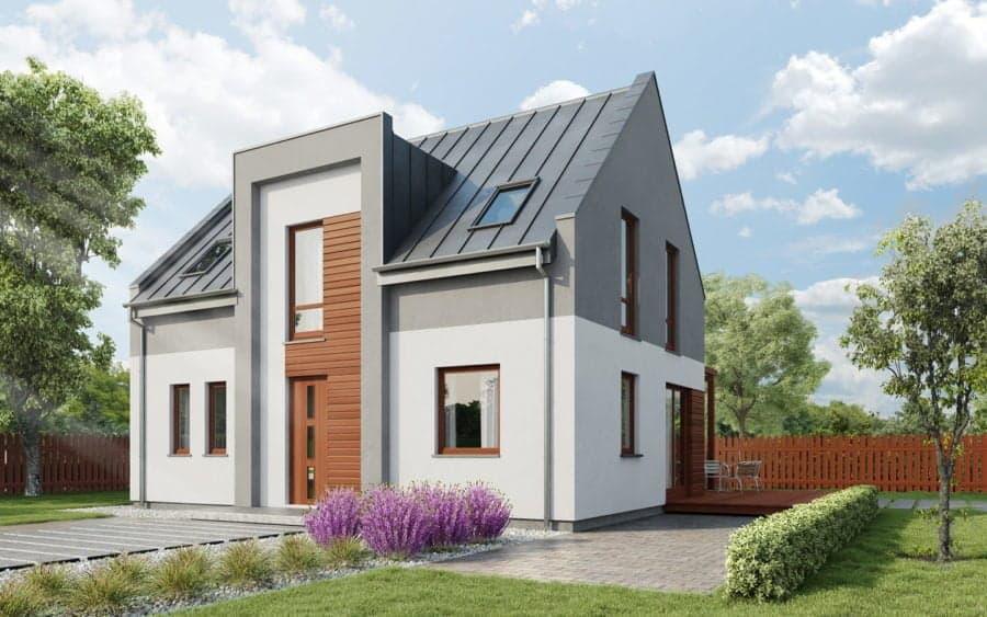 Castor - Domy jednorodzinne opowierzchni zabudowy do90 m2 - 10