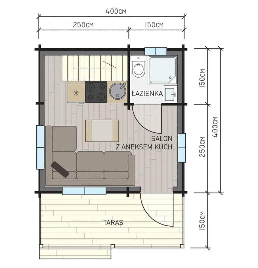Castor - Drewniane domki letniskowe do35 m2 - 6
