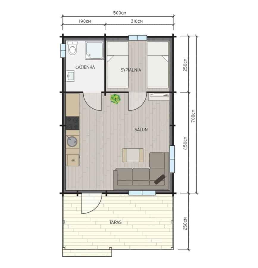Castor - Drewniane domki letniskowe do35 m2 - 9